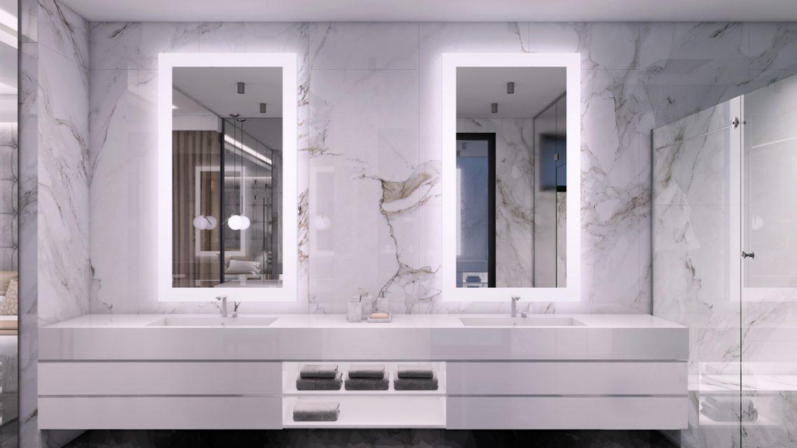 Picture of: Lys Over Spejlet Pa Badevaerelset Designbyfrandsen Dk